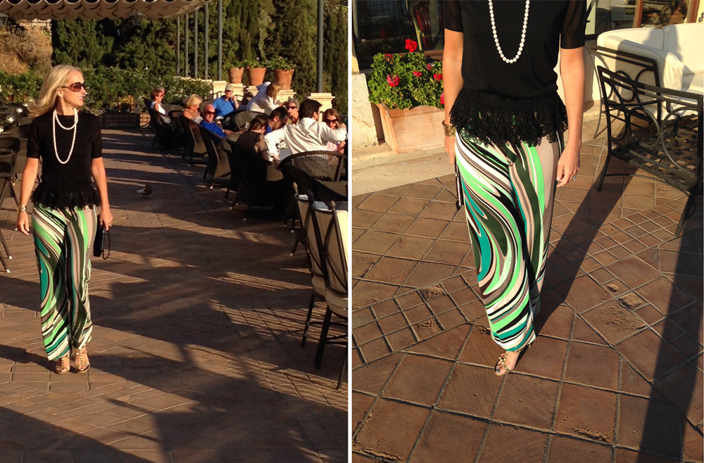 At the Belmond Grand Hotel Timeo, Taormina, Sicily Pants by Emilio Pucci (photo: A Rebel in Prada)