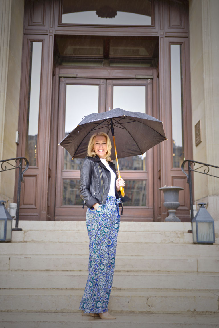 Playing in the Rain in Paris (photo: Laurent Casanovas), Michelle Crosland, Michelle Crosland blog, A Rebel in prada, Paris, Rain in Paris