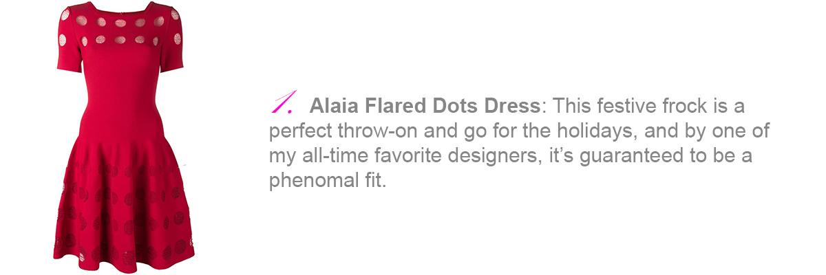 Alaia, Alaia flared dots dress, Alaia dress, Azzedine Alaia